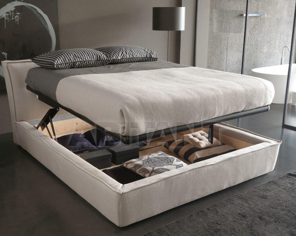Функциональная серая кровать