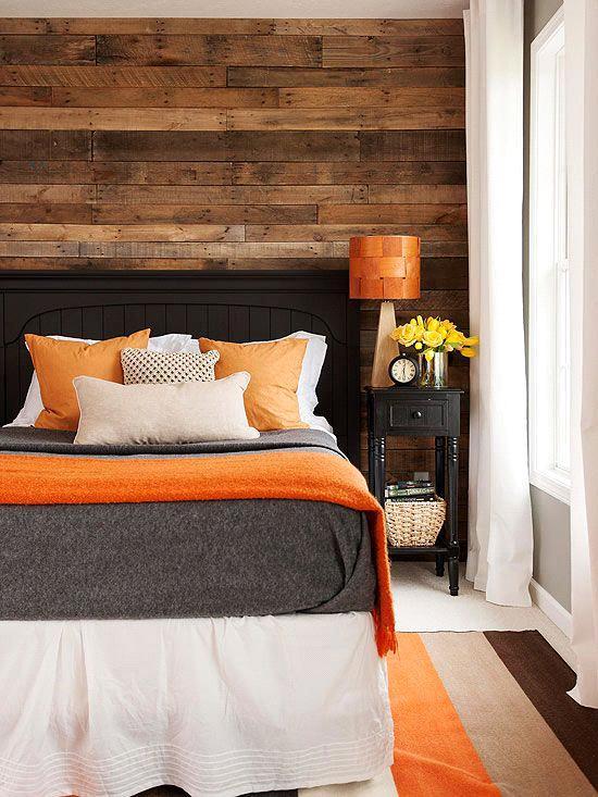 Как использовать оранжевый цвет для оформления кровати