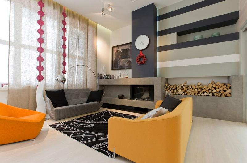 Как использовать желтый диван для обустройства гостиной
