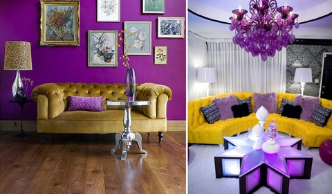 Как правильно использовать желтый диван в инетрьере гостиной