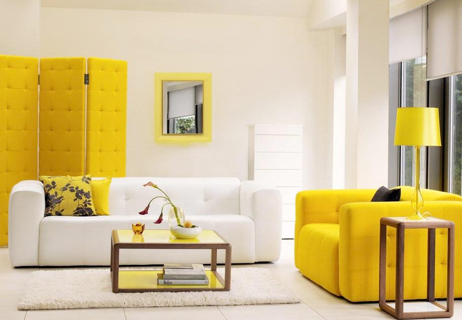 Как правильно выбрать диван желтого цвета