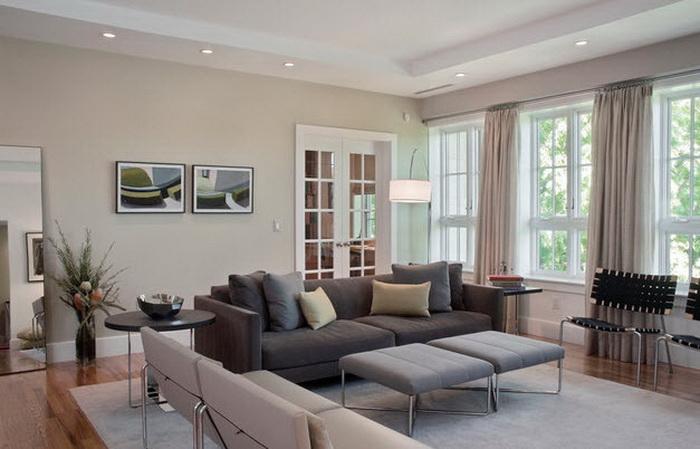 Как вписать серый диван в интерьер