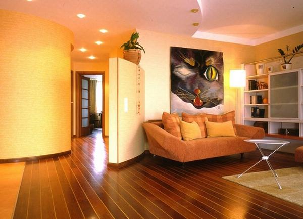 Как вписать в интерьер оранжевый насыщенный цвет дивана