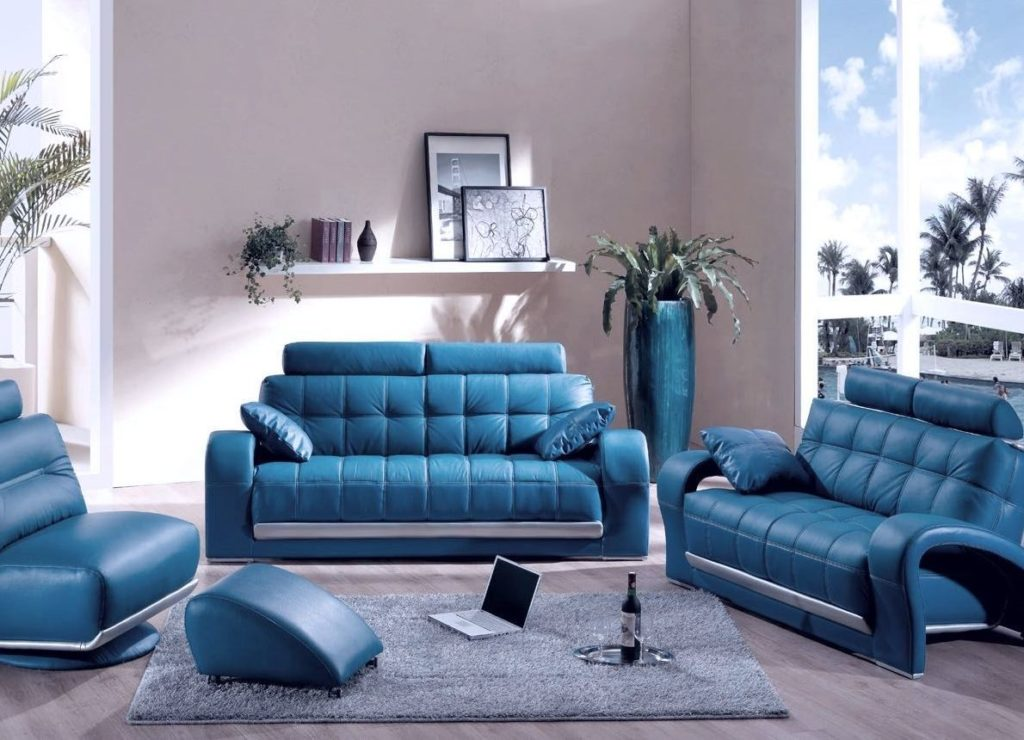 Как выбрать диван синего цвета