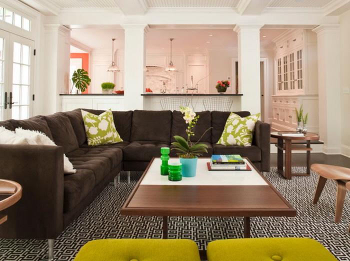 Как выбрать коричневый диван для дома