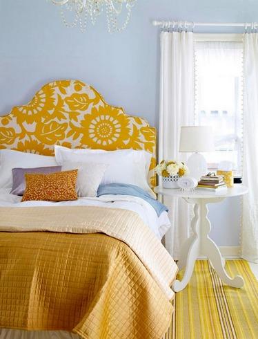 Как выбрать желтую кровать
