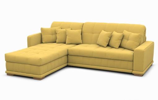 Классический вариант дивана желтого цвета