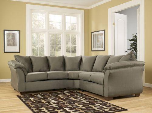 Классический вариант серого дивана