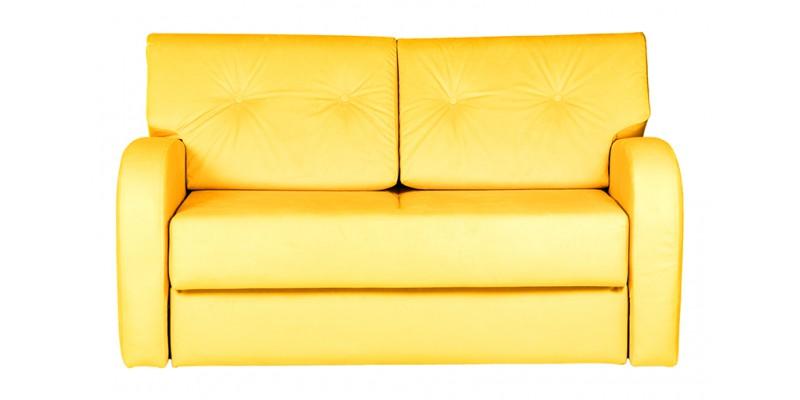Компактный диван желтого цвета