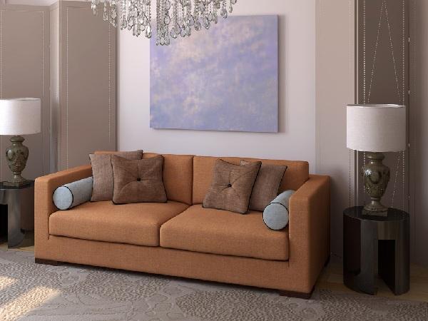 Коричневый красивый диван