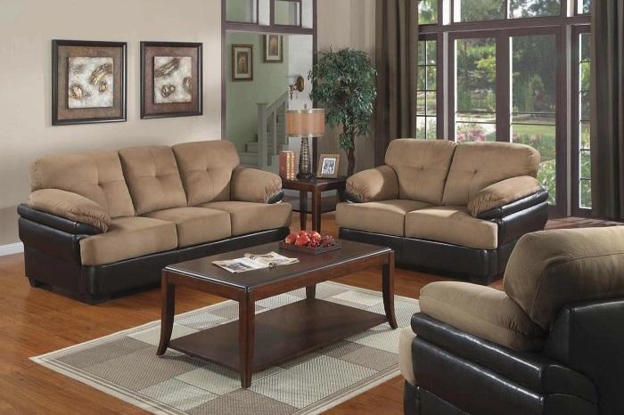 Коричневый современный диван для дома