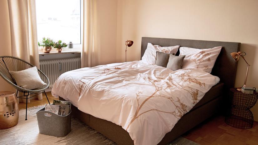 Коричневый цвет кровати