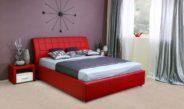 Выбор красной кровати для спальни