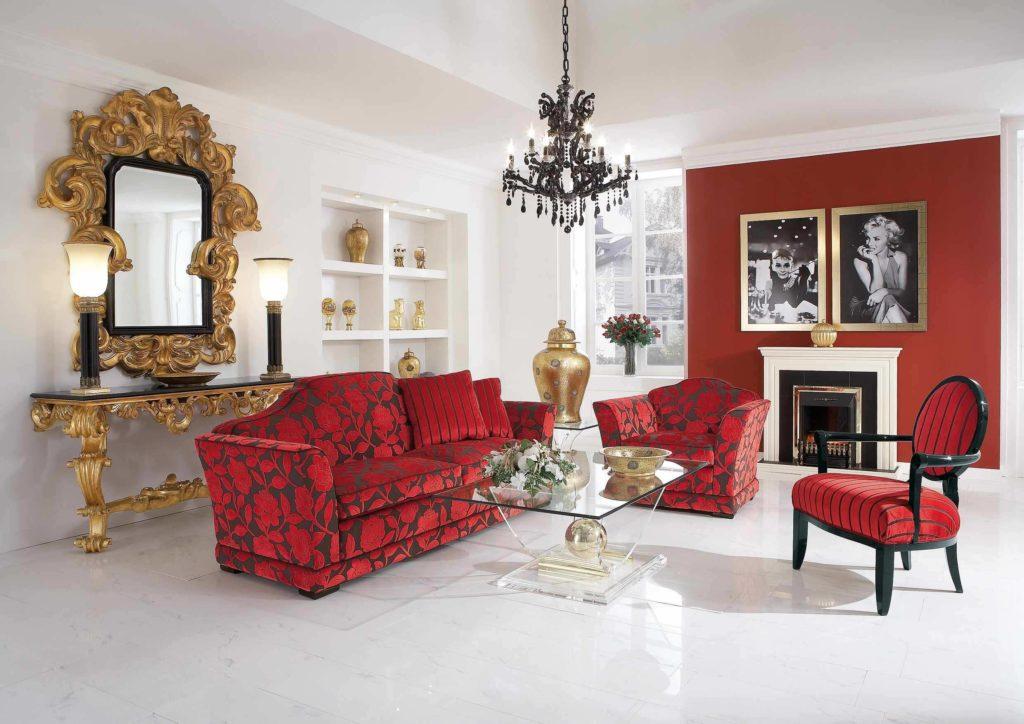 Красные диваны пользуются особой популярностью
