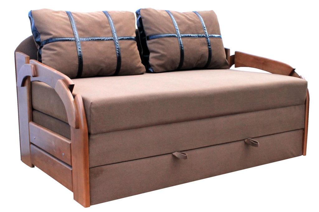 Модель дивана в коричневом цвете
