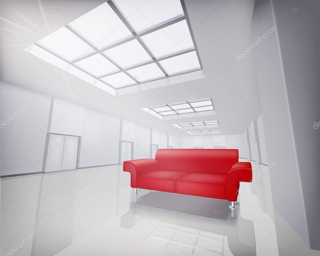 Модель красного дивана для дома