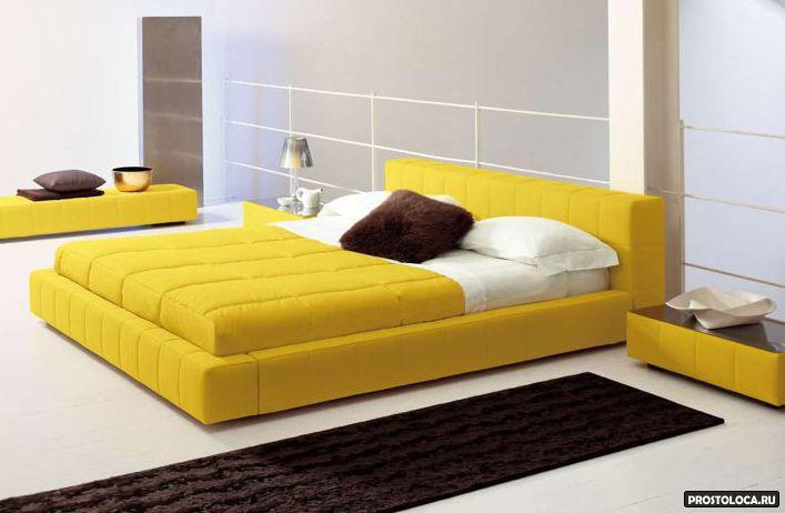 Модель желтой кровати