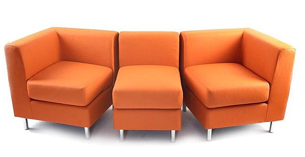 Модульный оранжевый современный диван