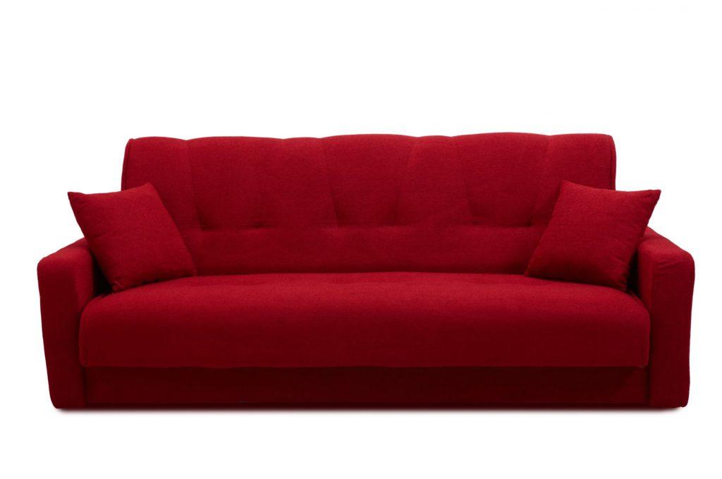 Мягкий бордовый диван