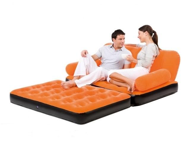 Оранжевая кровать-трансформер