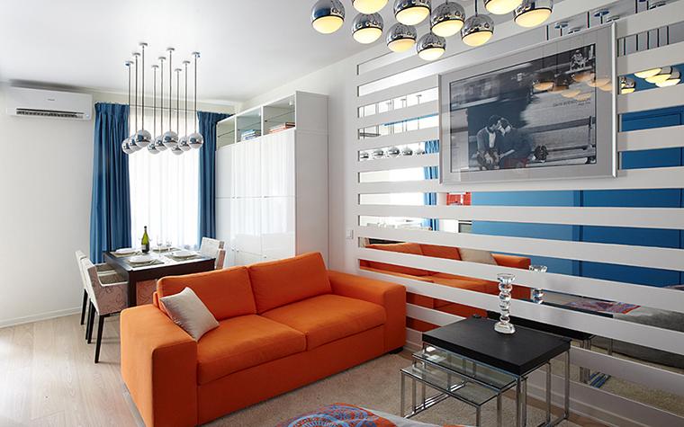 Оранжевый дизайн дивана для дома