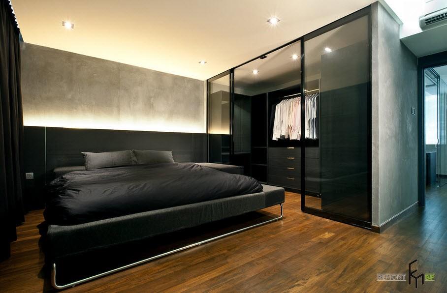 Оригинальная черная кровать