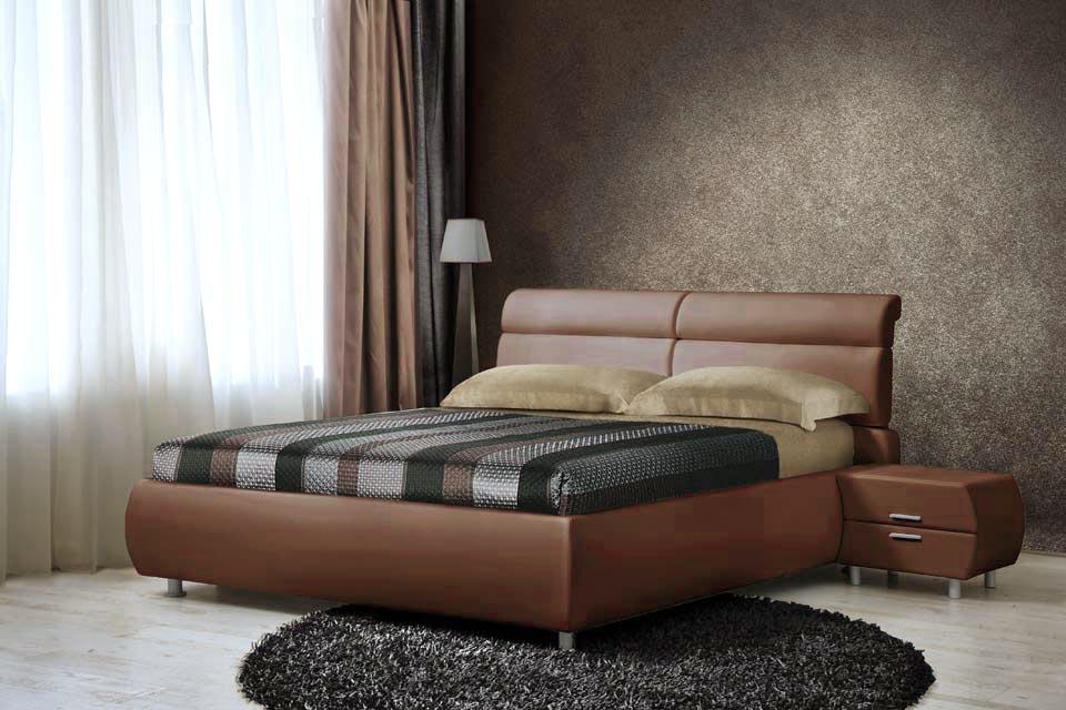Оригинальный оттенок коричневой кровати