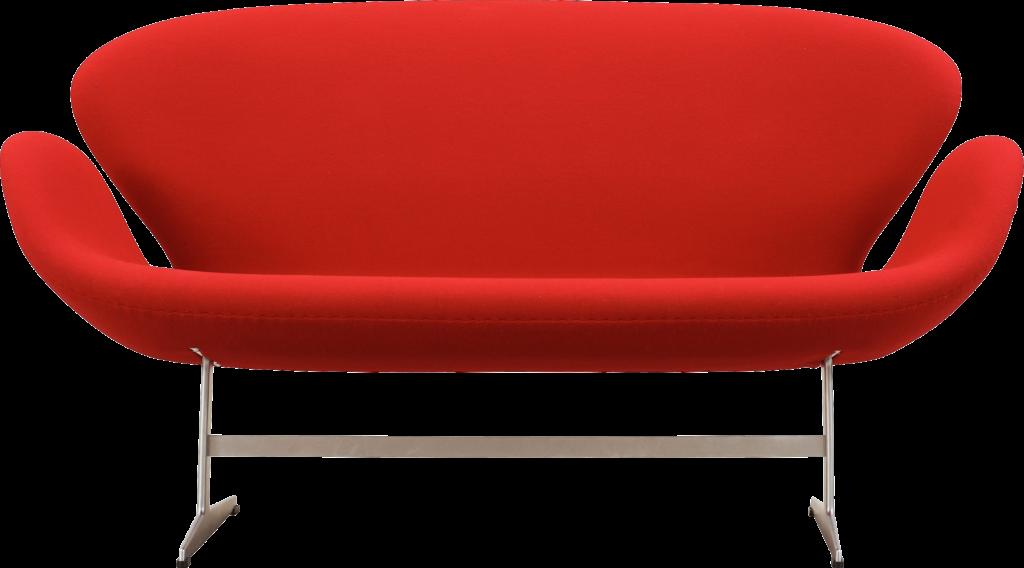 Практичный современный красный диван