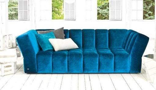 Правила выбора дивана в синем цвете