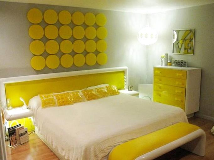 Пример использования желтой кровати
