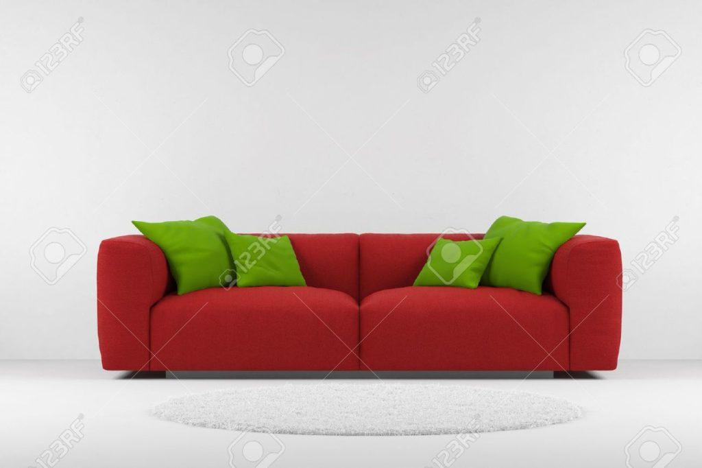 Пример современного красного дивана