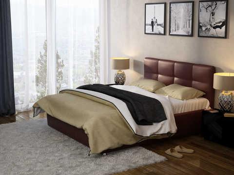 Привлекательная кровать коричневого цвета
