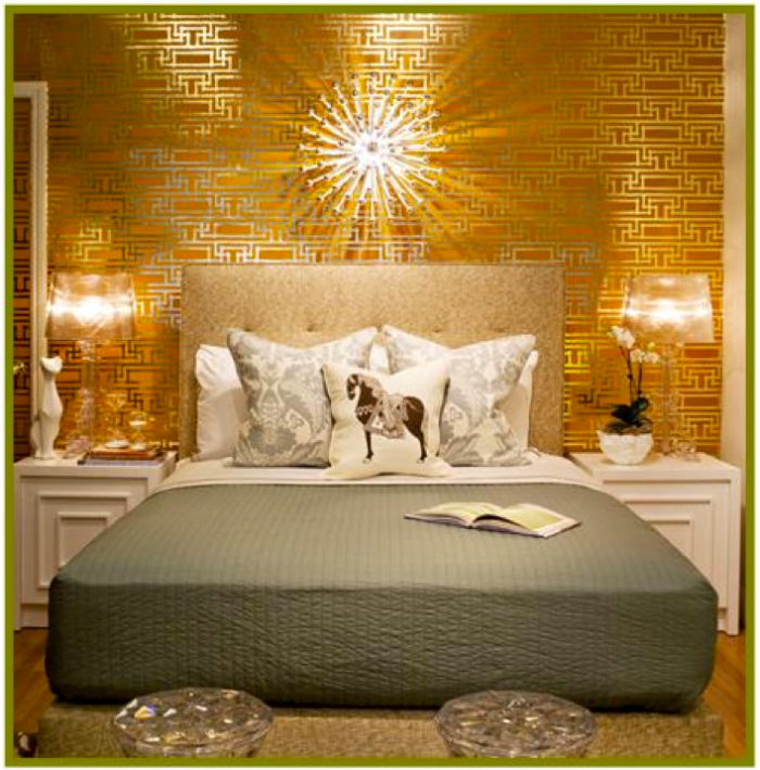 Приятный светлый тон желтой кровати