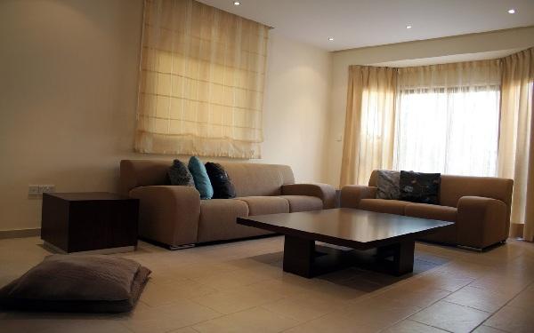 Приятный тон коричневого дивана