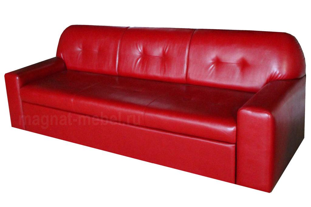 Расклданой красный диван для дома
