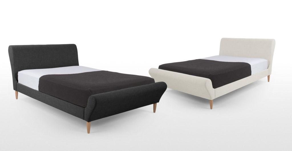 Разновидность кровати серого цвета