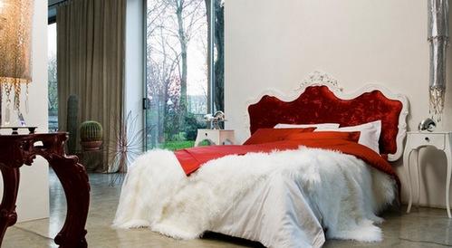 Шикарная красная кровать
