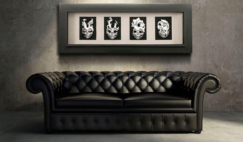 Шикарный диван черного цвета