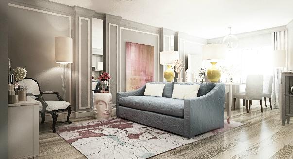 Серые диваны используются для обустройства дома