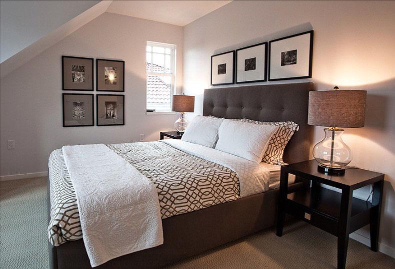 Современная коричневая кровать