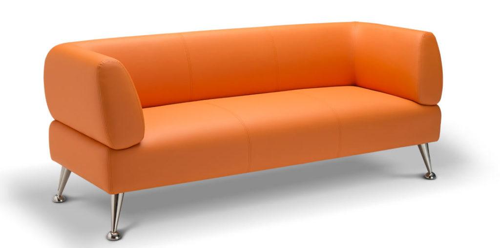 Современный дизайн дивана оранжевого цвета