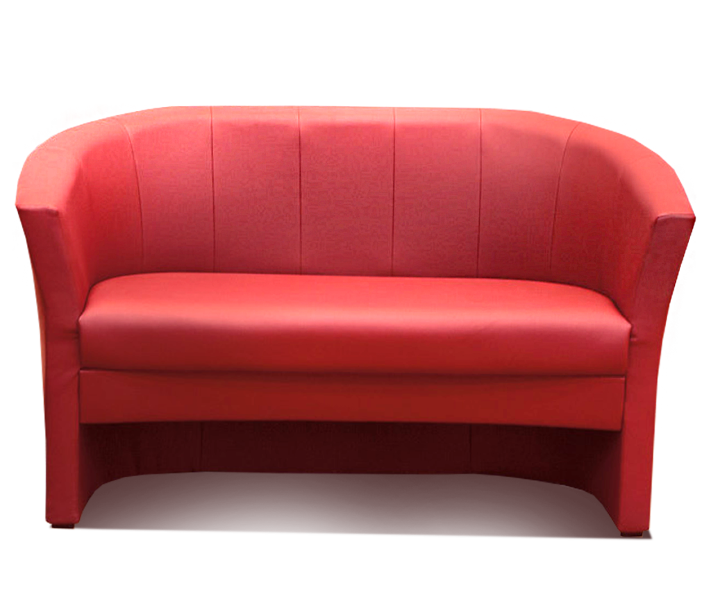 Современный красивый диван красного цвета
