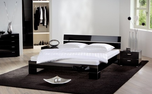 Современный стиль черной оригинальной кровати