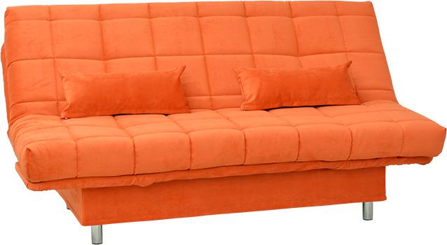 Современный стиль дивана оранжевого цвета