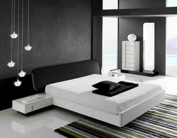 Стильная черная кровать для дома