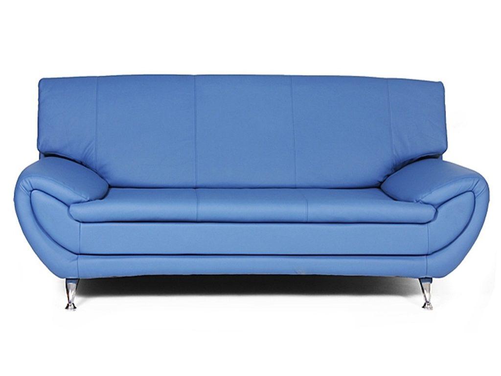 Светлый тон дивана синего цвета
