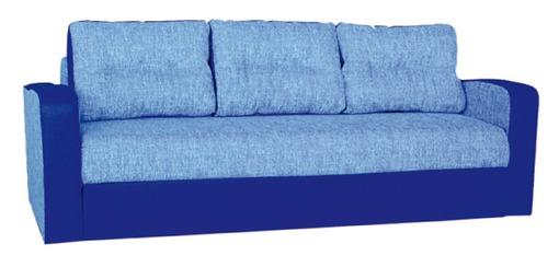 Трехместный синий практичный диван