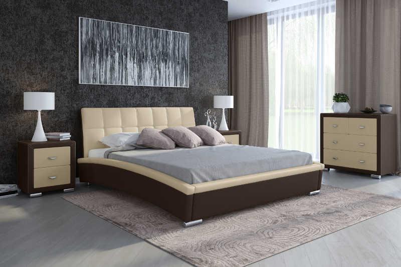 Вариант использования коричневой кровати