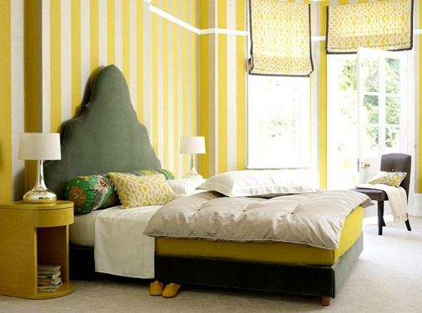 Вариант кровати желтого цвета