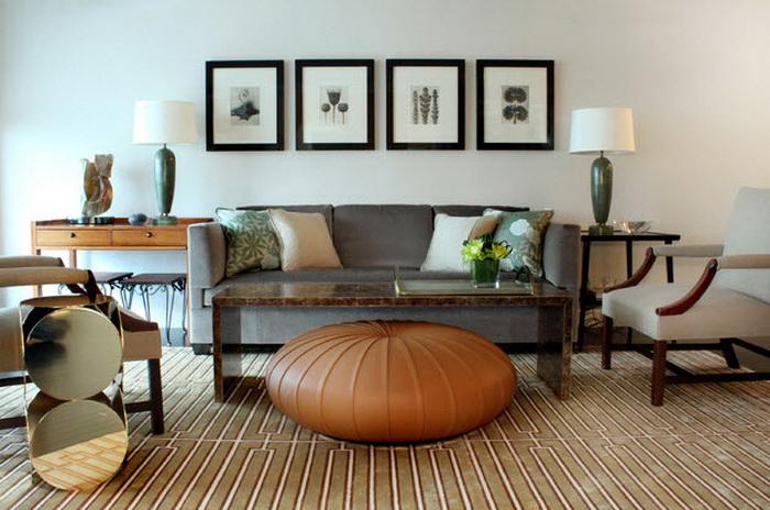 Вариант современного серого дивана
